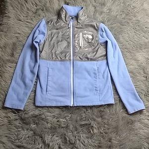 The North Face sz M blue grey fleece jacket